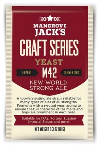 Mangrove Jack drożdże piwowarskie M42 NEW WORLD STRONG ALE 10g